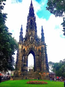 The monument to author Sir Walter Scott in Edinburgh.
