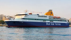 Taking a Blue Star Ferry is a great way to start your 3 days in Mykonos.