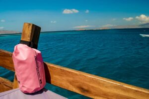 The Overboard 5-Liter Waterproof Dry Tube bag is perfect for anyone who likes to travel by the water.